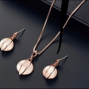 Jewelry - Rose Gold matching necklace and earrings
